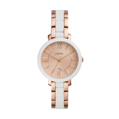 FOSSIL美式風格設計腕錶/36mm玫瑰金ES4588
