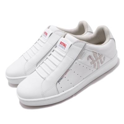 Royal Elastics 休閒鞋 Icon Genesis 套腳 穿搭 男鞋 基本款 輕便 舒適 簡約 皮革 白 銀 01902008