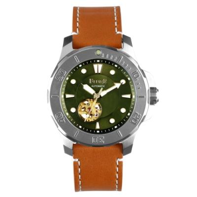 FIBER|海洋潛將系列|機械潛水錶 鏤空綠