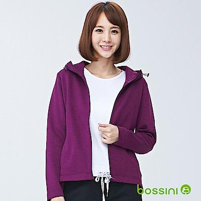 bossini女裝-長袖連帽外套02梅紫