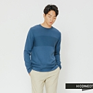H:CONNECT 韓國品牌 男裝-質感造型針織上衣-藍(快)