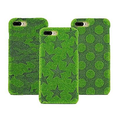 Shibaful iPhone 8/7/6+ 5.5吋 雷雕 草皮硬殼