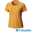 Columbia 哥倫比亞女款-鈦 防曬15涼感快排短袖上衣-橘色UAR19820