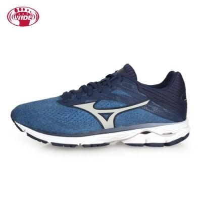 MIZUNO 男 慢跑鞋-WIDE WAVE RIDER 23 藍丈青灰