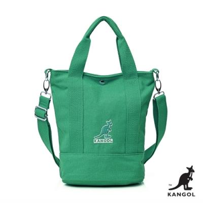 【KANGOL】英式經典-繽紛手提/側背兩用包-綠