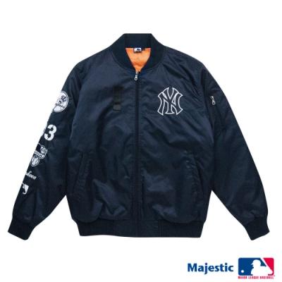 MLB-紐約洋基隊街頭MA-1飛行外套-深藍 (男)