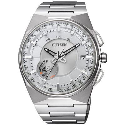 CITIZEN GPS 衝鋒衛星對時鈦金屬旗艦腕錶(CC2001-57A)-白x銀