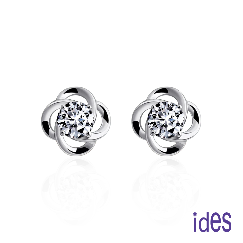ides愛蒂思 40分E/VVS2八心八箭完美EX車工鑽石耳環/典雅四爪(1邊各20分) @ Y!購物