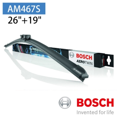 【BOSCH 博世】AERO TWIN AM467S 26 /19 汽車專用軟骨雨刷