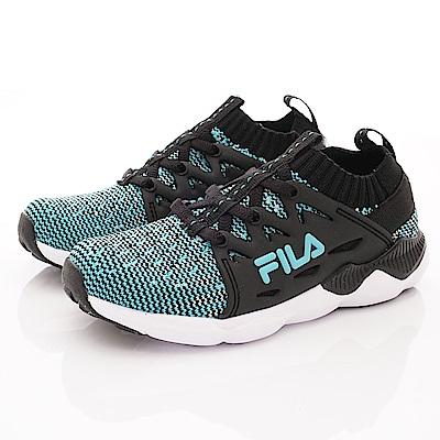 FILA頂級童鞋 針織運動鞋款 EI12S-303黑(中小童段)
