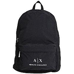 ARMANI EXCHANGE A X 經典字母LOGO圖騰造型輕量後背包(黑)
