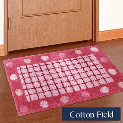 棉花田 點點-粉紅 純棉提花踏墊(40x60cm)