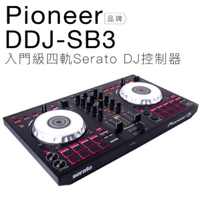 Pioneer DDJ-SB3 入門級四軌 Serato DJ 控制器【邏思保固一年】