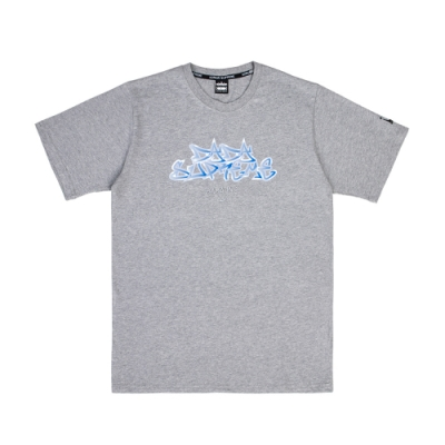 【DADA SUPREME】FLAME 中性刺繡印花短袖上衣-鐵灰