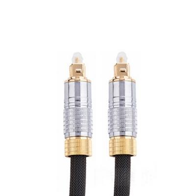 Bravo-u 24K鍍金 光纖數位音訊傳輸線(1米/銀灰色)