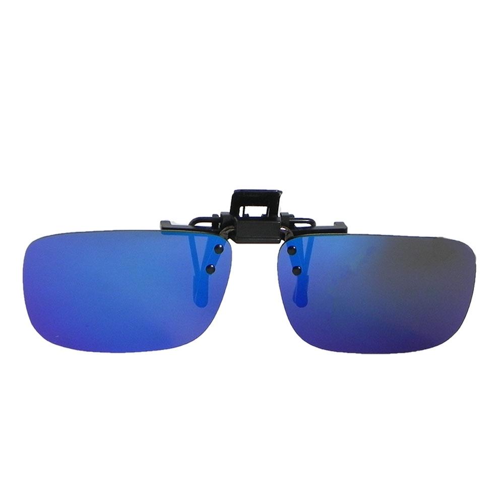 【Docomo夾式可上掀式太陽眼鏡】頂級偏光鍍膜鏡片 Polarized偏光科技款 可直接夾在各類眼鏡框