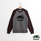 Roots 男裝-經典圓領上衣-炭灰色