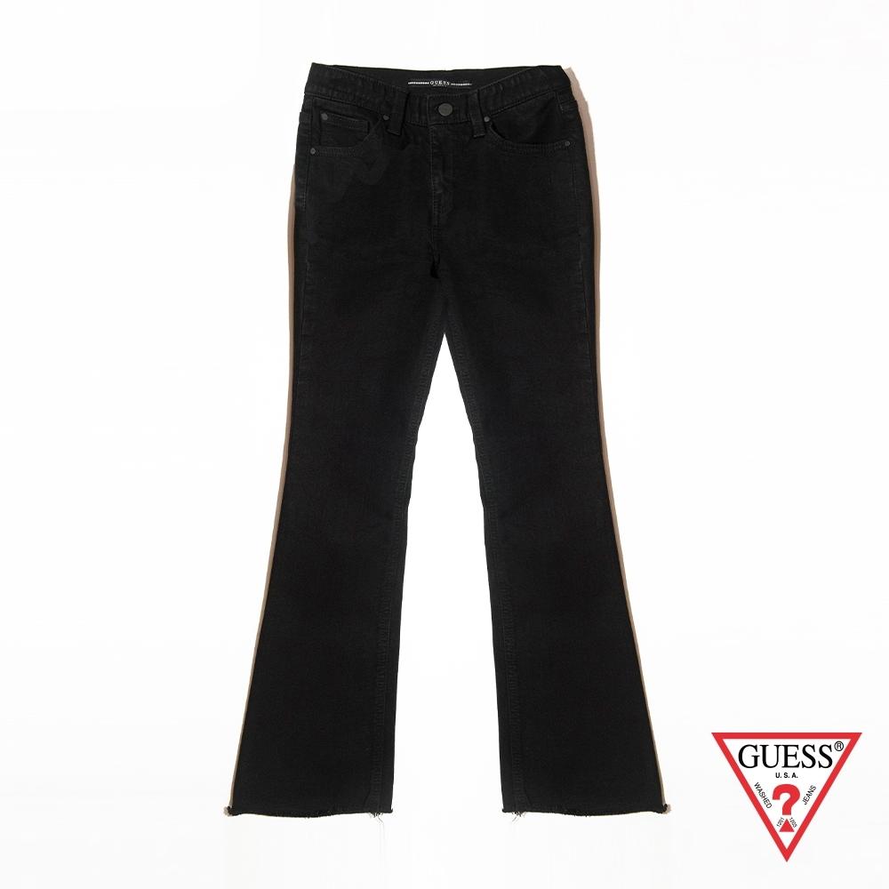 GUESS-女裝-經典靴型牛仔褲-黑 原價5990