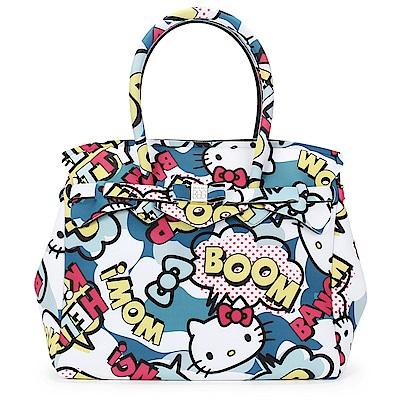 SAVE MY BAG Miss系列Hello Kitty輕量托特包-藍色