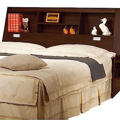 綠活居 波羅利時尚5尺木紋雙人床頭箱(二色可選)-150x30x105cm-免組