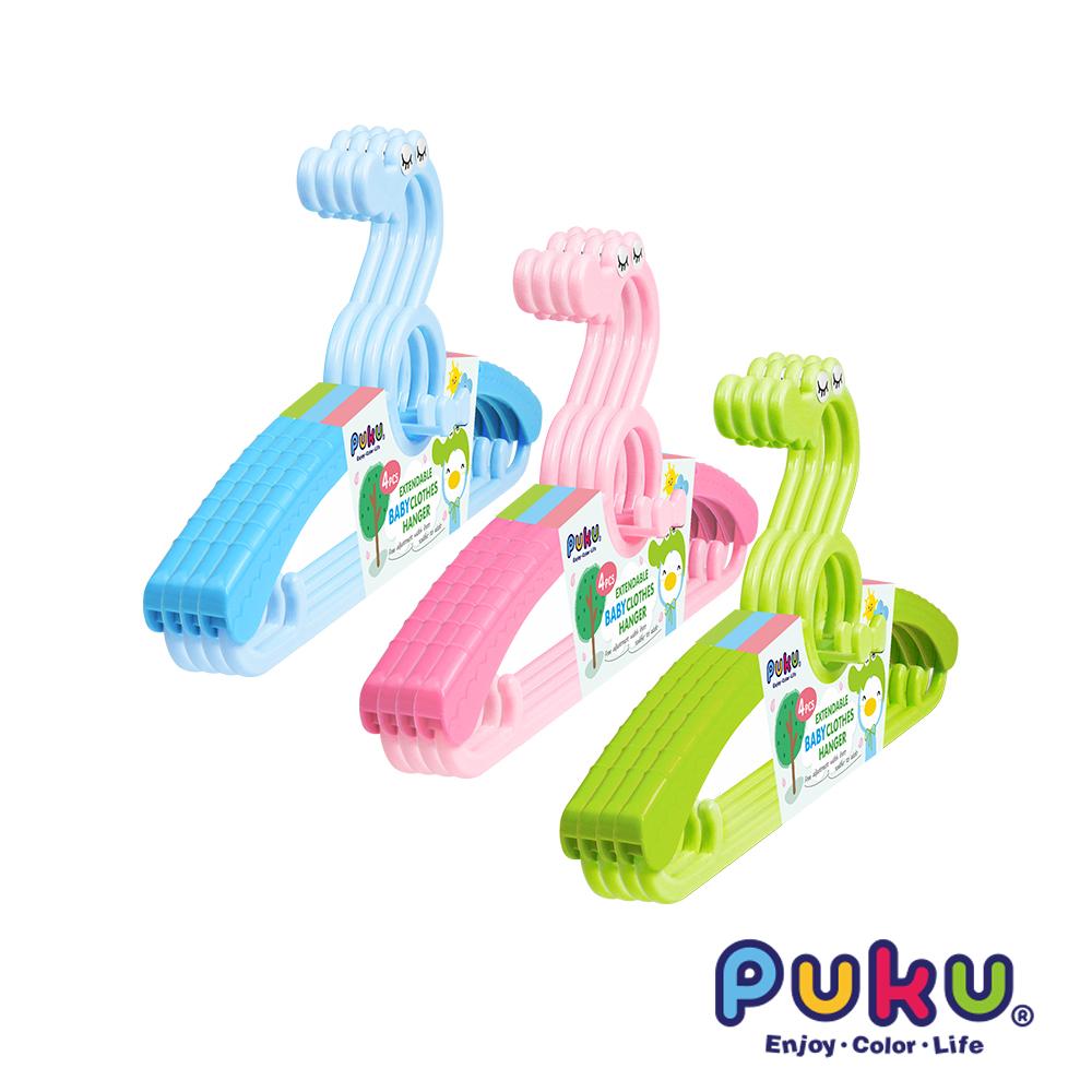 【PUKU】鱷魚衣架4入組