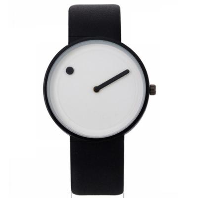 Watch-123 黑白獨特概念超簡約無秒針腕錶(3色任選)