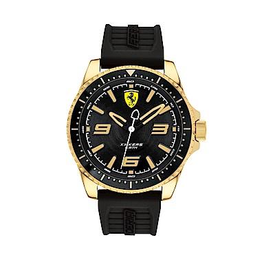 FERRARI 奔馳大三針金框橡膠時尚腕錶/0830485