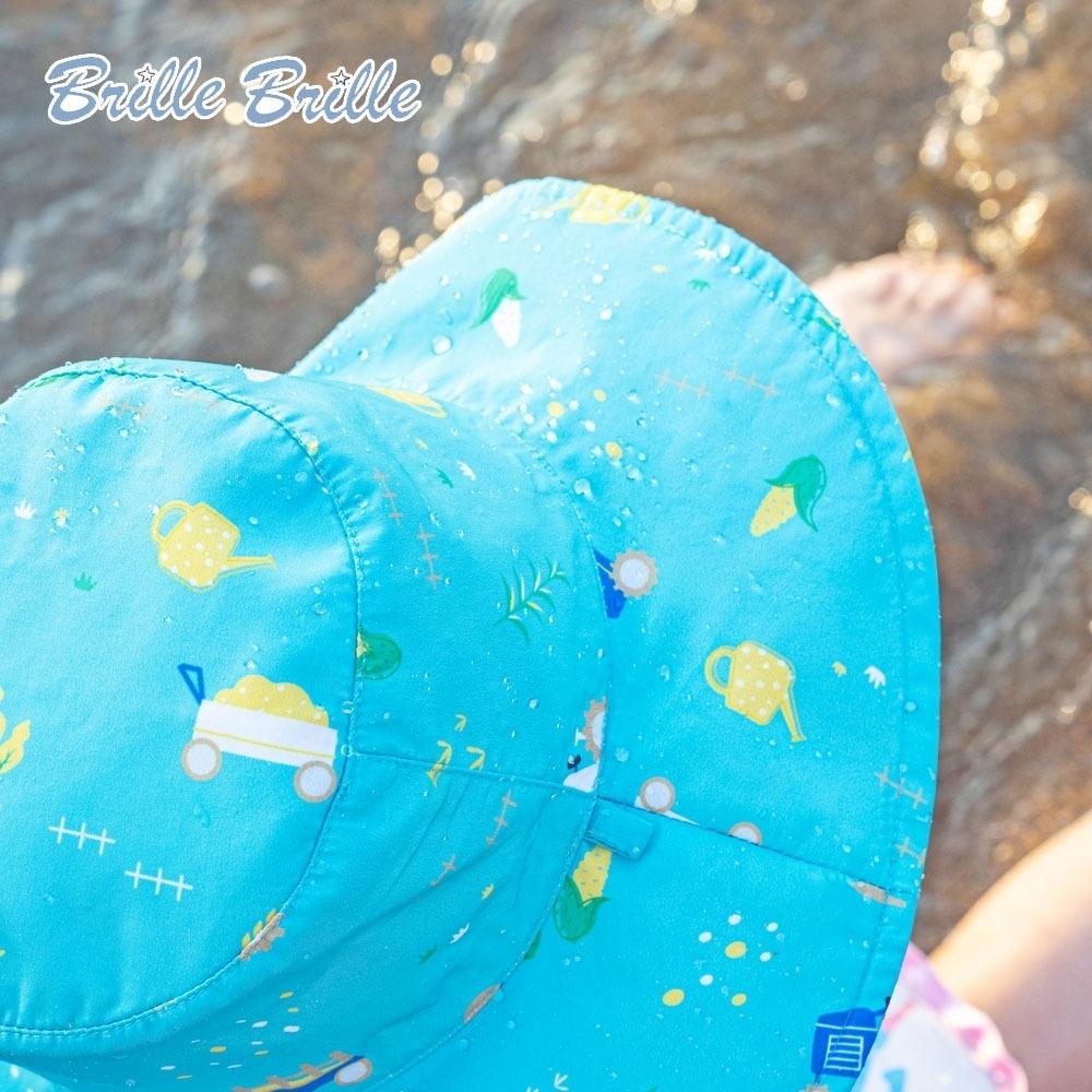 【Brille Brille】兒童UPF50+雙面防曬帽 - 金色麥田