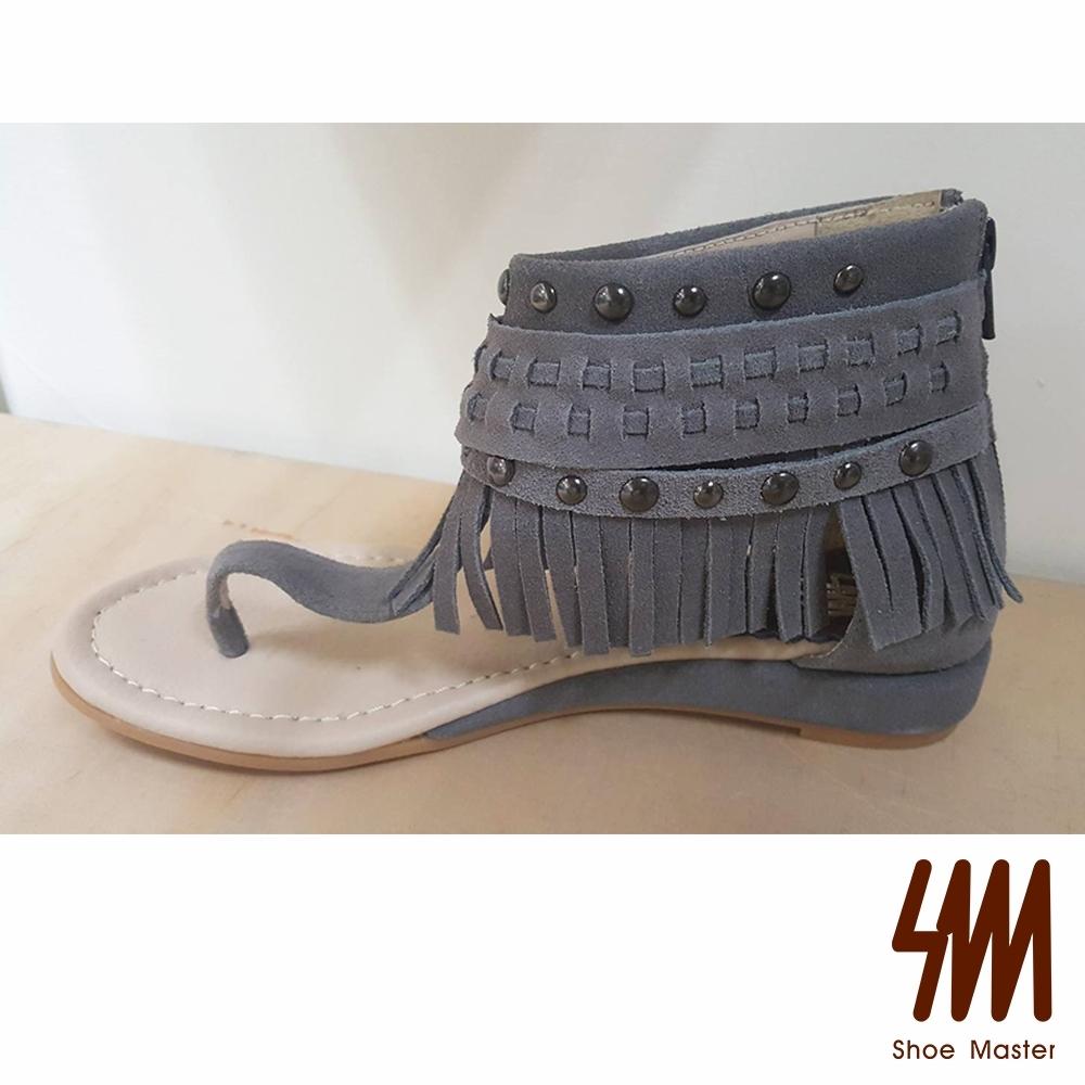 SM-夾腳流蘇短筒涼鞋