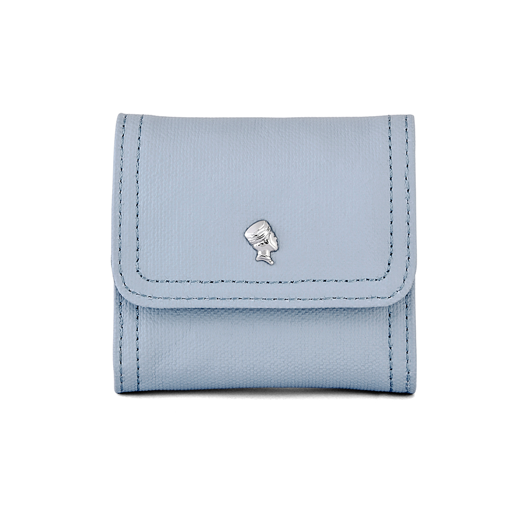 PORTER - 輕甜繽紛SPIRIT復古雙層零錢包- 粉藍