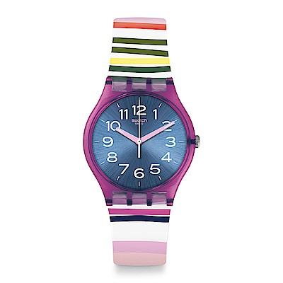 Swatch FUNNY LINES 俏皮條紋手錶