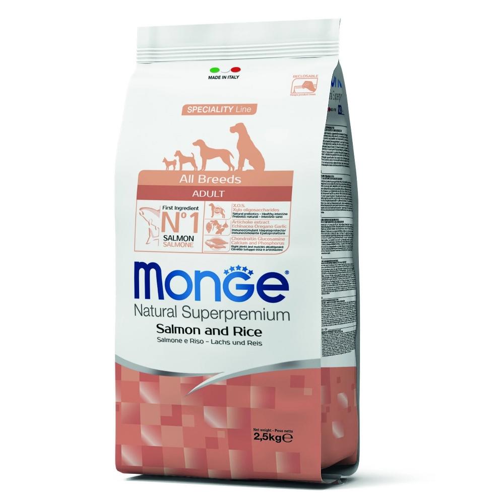 Monge Natural 天然特選 成犬 鮭魚配方 2.5KG