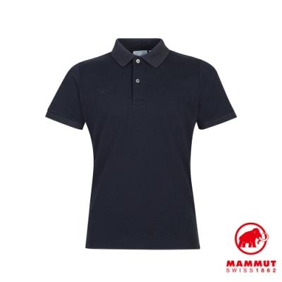 【Mammut】Logo Pique 短袖Polo衫 黑色 男款 #1017-01740