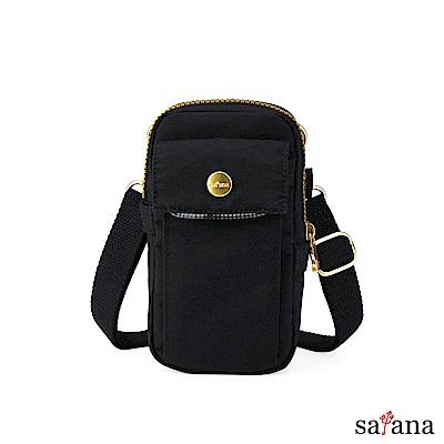 satana - Soldier 多功能外掛小斜背包 - 黑色