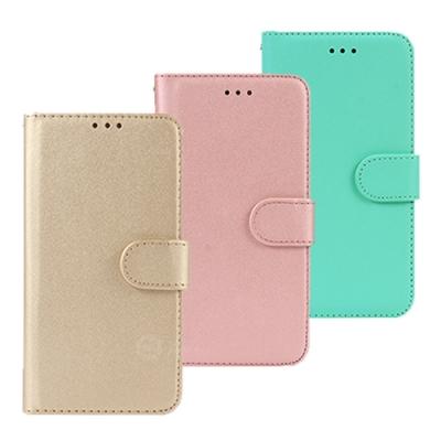 亞古奇 iPhone X/Xs 5.8吋柔軟羊紋二合一可分離式兩用皮套-金粉綠