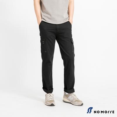 NoMorre 輕薄透氣彈力多袋直筒工作褲-黑色
