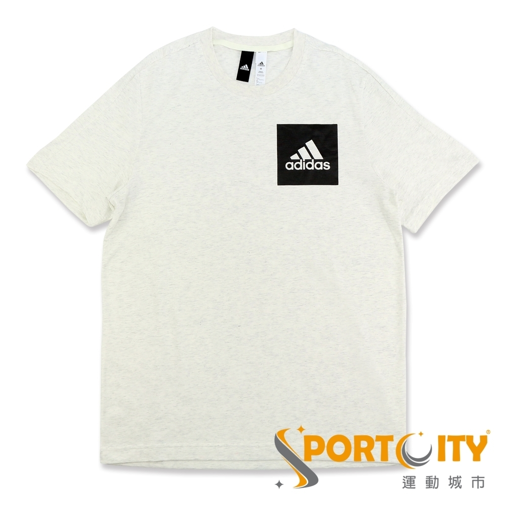 ADIDAS ESS CHEST LOGO 男短袖T恤 米灰 BS4862