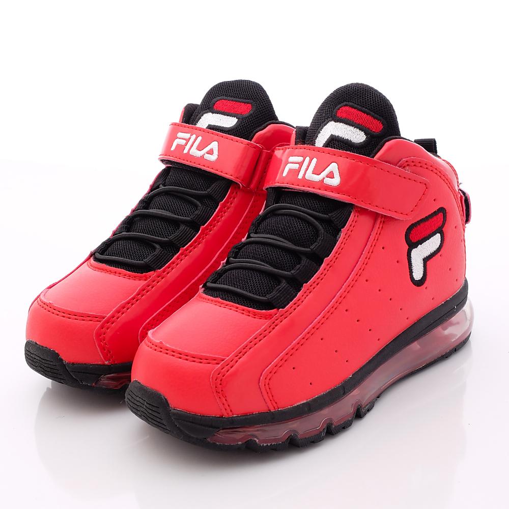 FILA頂級童鞋款 氣墊籃球鞋款 EI13P-202紅(中童段)0