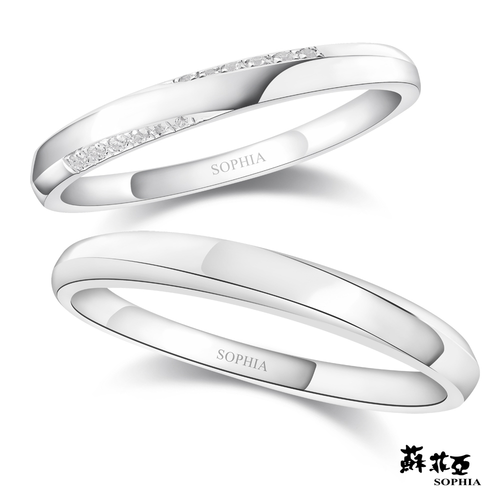 SOPHIA 蘇菲亞珠寶 - Arlen亞爾 950鉑金 結婚對戒