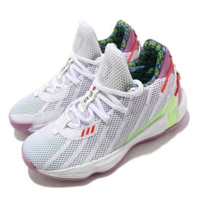adidas 籃球鞋 Dame 7 J 運動 女鞋 愛迪達 玩具總動員 巴斯光年 緩震 大童 白 紫 FY4924