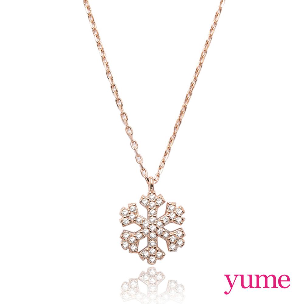 YUME snow雪花項鍊(玫瑰金) @ Y!購物
