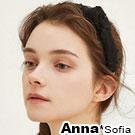 AnnaSofia 神秘紗點側結 韓式寬髮箍(酷黑系)