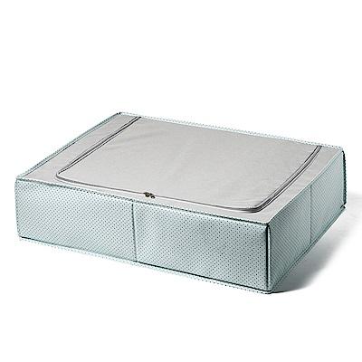 日系風格布藝床底抽屜式收納箱-清新點點