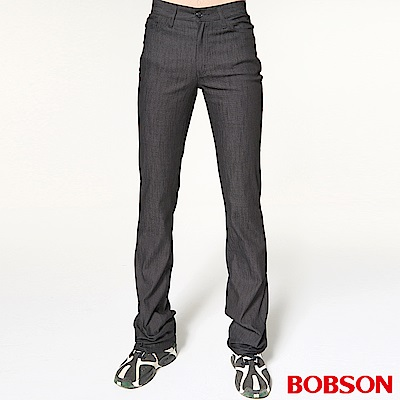 BOBSON 男款伸縮黑色喇叭褲
