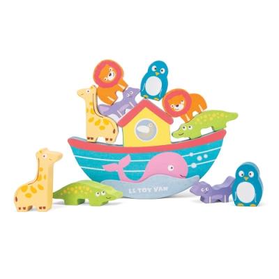 英國 Le Toy Van- Petilou系列啟蒙玩具系列-諾亞方舟動物平衡啟蒙木質玩具