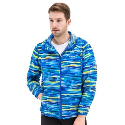 【St. Bonalt 聖伯納】男款迷彩超輕透防曬外套 (8028-藍格迷彩) 抗UV 防曬 防風 防潑水 輕薄 透氣