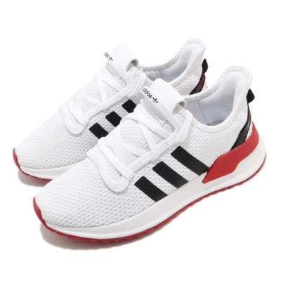 adidas 休閒鞋 U Path Run 襪套式 男女鞋 愛迪達 基本款 緩震 情侶鞋穿搭 白 黑 紅 FX0104