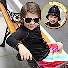 美國 PANDOO 美寶 新款長袖兒童拉鍊式彈性防曬衣_曜石黑