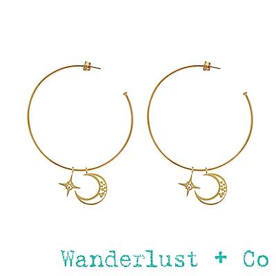 Wanderlust+Co星月圓圈耳環