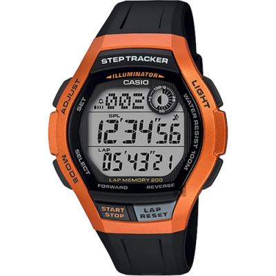 CASIO 卡西歐 計步功能手錶-橘(WS-2000H-4A)
